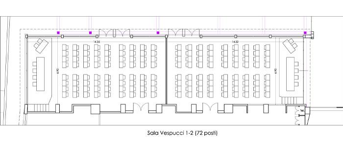 Classroom Design Dimensions ~ Vespucci room hotel mediterraneo riccione